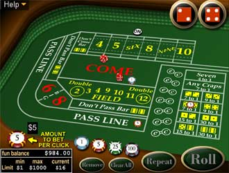 casino dice games online