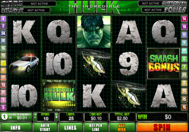 The Hulk™ Slot Machine Game to Play Free in Cryptologics Online Casinos
