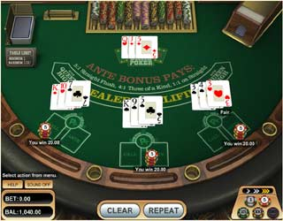 3 card poker play online