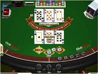play 3 card poker with bonus for free