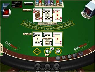 3 card poker online flash game