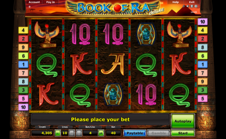free casinos online slots book of ra free game