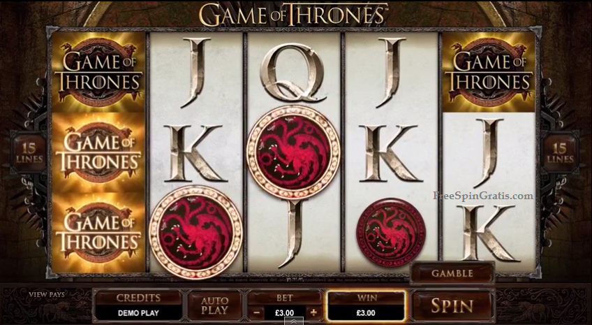 Game of thrones slot free online