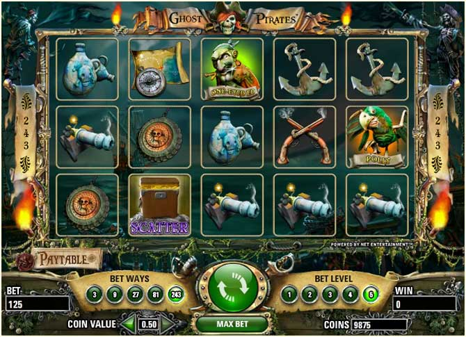 Ghost Pirates slots - spil Ghost Pirates slots gratis online.