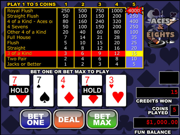 Tens or Better Video Poker Game – Play Here Online for Free