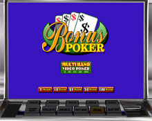video poker multi hand